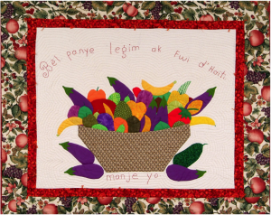 """A Beautiful Bowl of Fruits and Vegetable from Haiti"" from PeaceQuilts (2012)"